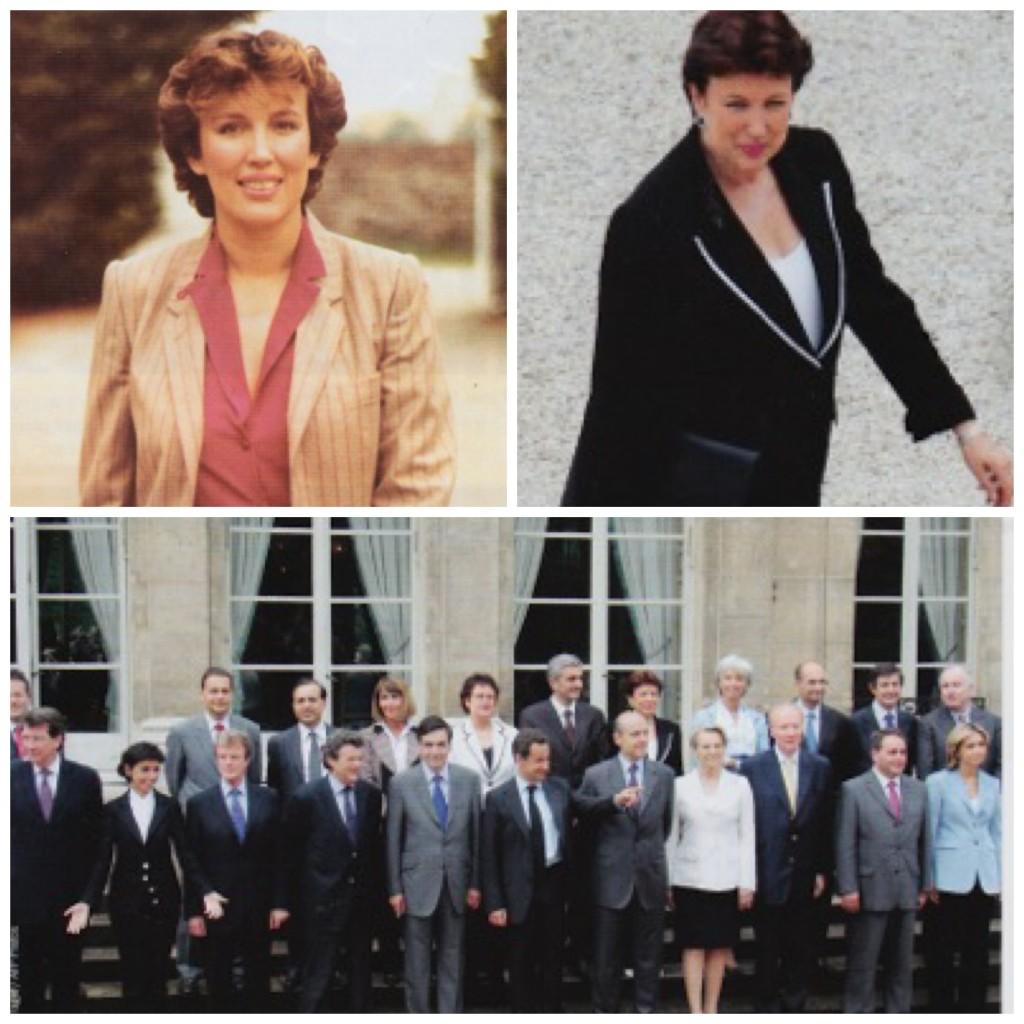 De sa première affiche électorale à son arrivée au gouvernement Fillon.  Photos tirées du livre