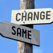 Changes signpost