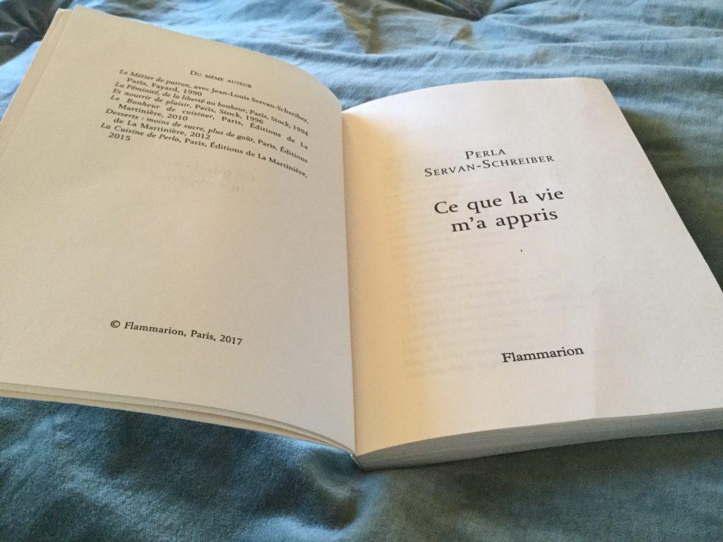 le livre de Perla Servan-Schreiber