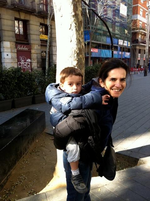 Laura et son petit fils