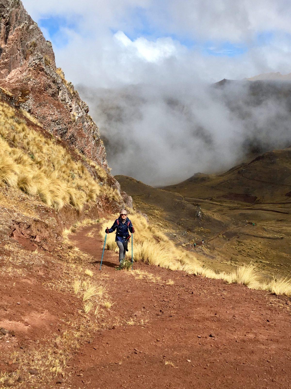 Valerie a l'assaut du Machu Picchu