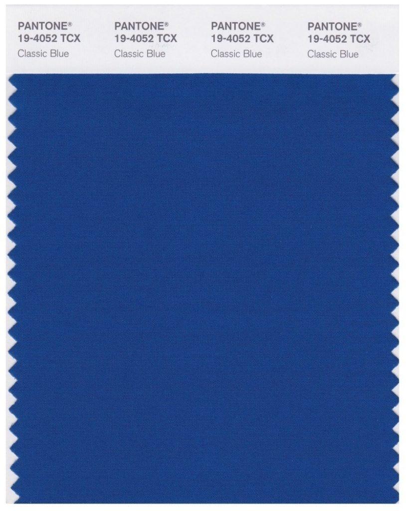 Classic blue, couleur Pantône