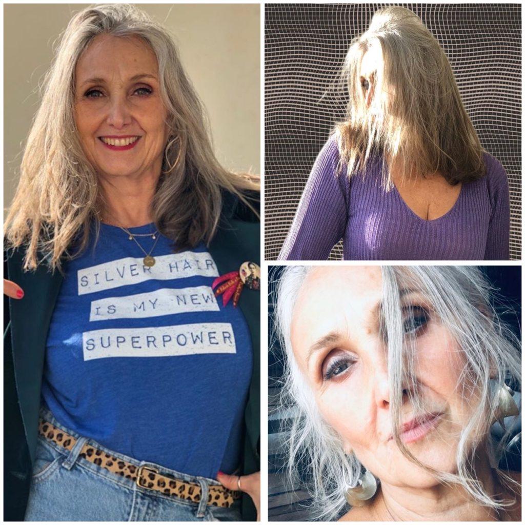 Caroline, cheveux blancs, blog quinqua