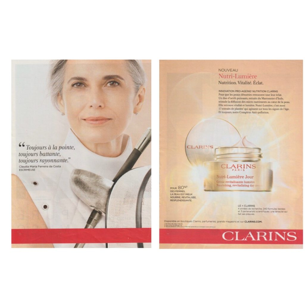 Pro-ageing, publicite Clarins, blog quinqua, pro-âge