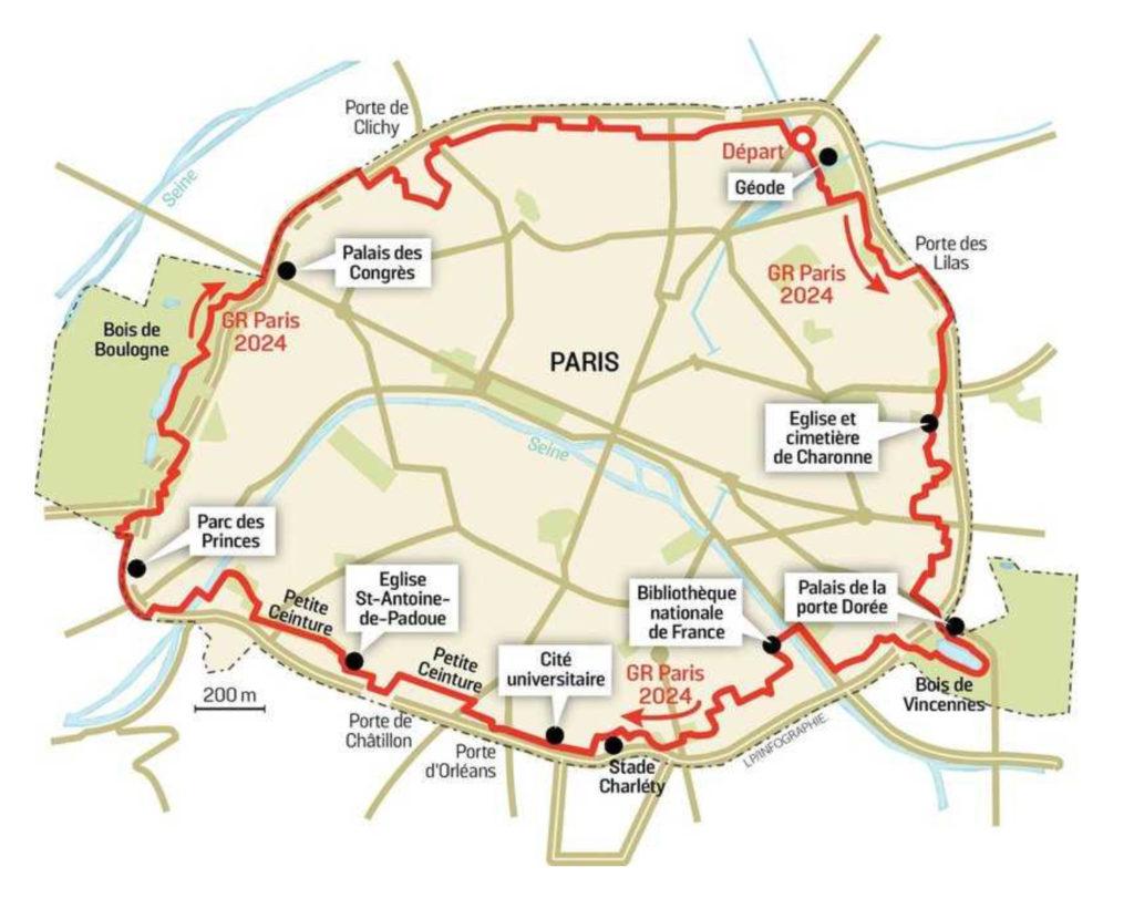 Carte de Paris, GR25, blog quinqua
