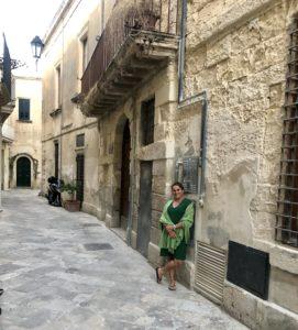 Virginie Gorse dans les Pouilles à Lecce