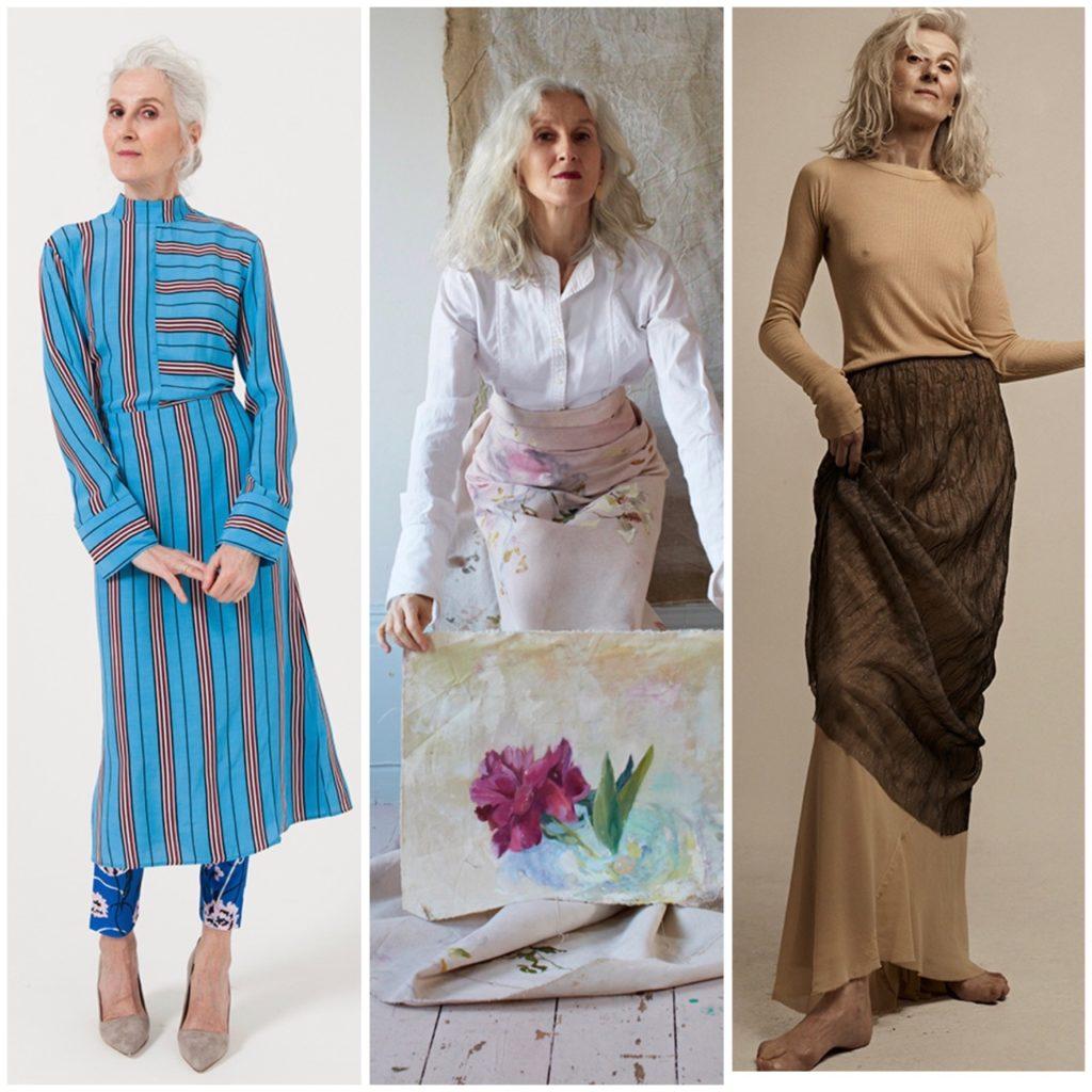 Vieille et jolie, Sylviane Degunsts, mannequin silver,