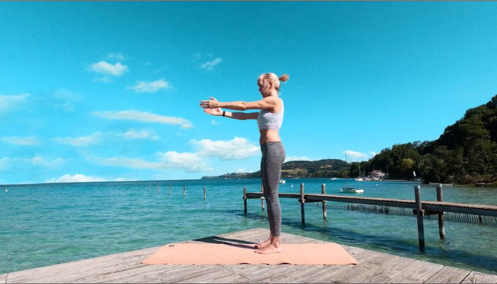 Cours de Pilates, forme, dos,